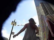 Offene kamera in der öffentlichkeit